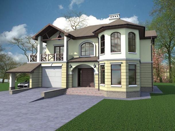 фото красивых двухэтажных домов